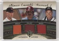 Mike Schmidt, Cal Ripken Jr., Chipper Jones [EX to NM] #/25