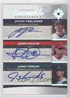 Justin Verlander, Jered Weaver, James Shields #/50