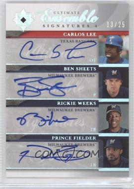 2006 Ultimate Collection - Ultimate Ensemble Signatures 4 #UES4-37 - Carlos Lee, Ben Sheets, Rickie Weeks, Prince Fielder /25