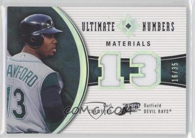 2006 Ultimate Collection - Ultimate Numbers - Materials #UN-CC - Carl Crawford /35