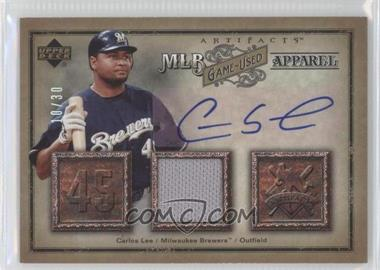 2006 Upper Deck Artifacts - [???] #MLB-LE - Carlos Lee /30