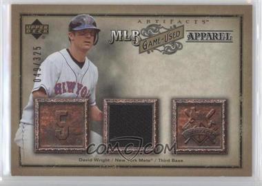 2006 Upper Deck Artifacts - MLB Apparel #MLB-WR - David Wright /325