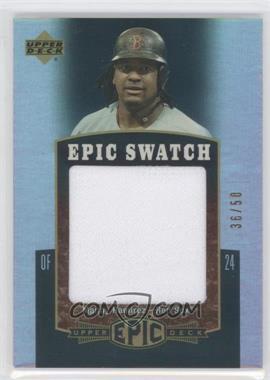 2006 Upper Deck Epic - Swatch #ES-MR - Manny Ramirez /50