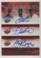 Joe Mauer, Francisco Liriano, Matt Garza