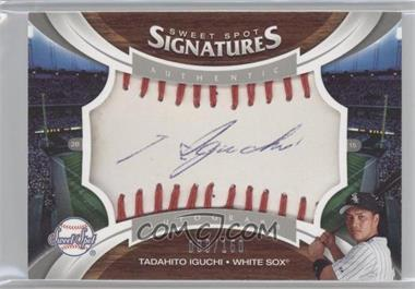 2006 Upper Deck Sweet Spot - [Base] - Red Stitch Blue Ink [Autographed] #127 - Tadahito Iguchi /150