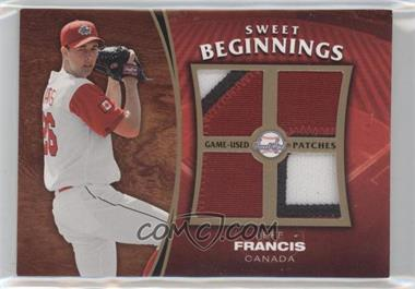 2006 Upper Deck Sweet Spot Update - Sweet Beginnings Swatches - Patches #SW-JF - Jeff Francis