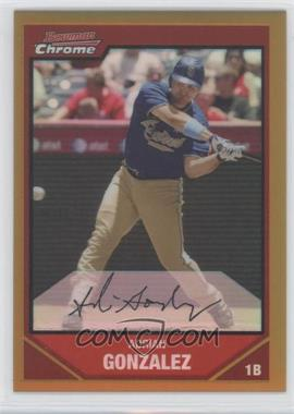 2007 Bowman Chrome - [Base] - Gold Refractor #161 - Adrian Gonzalez /50