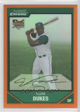 2007 Bowman Chrome - [Base] - Orange Refractor #199 - Elijah Dukes /25