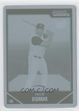 2007 Bowman Chrome - [Base] - Printing Plate Cyan #199 - Elijah Dukes /1