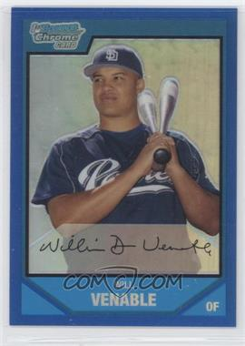 2007 Bowman Chrome - Prospects - Blue Refractor #BC84 - Will Venable /150
