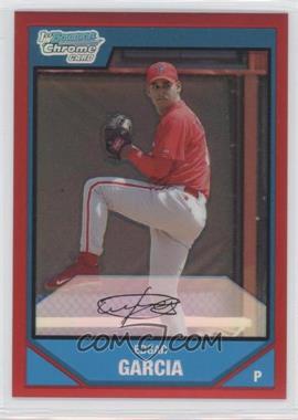 2007 Bowman Chrome - Prospects - Red Refractor #BC48 - Edgar Garcia /5