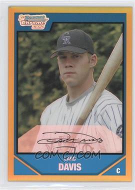2007 Bowman Draft Picks & Prospects - Chrome Draft Picks - Gold Refractor #BDPP19 - Lars Davis /50