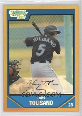 2007 Bowman Draft Picks & Prospects - Chrome Draft Picks - Gold Refractor #BDPP57 - John Tolisano /50