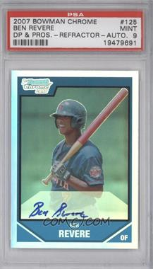 2007 Bowman Draft Picks & Prospects - Chrome Draft Picks - Refractor #BDPP125 - Ben Revere /500 [PSA 9]