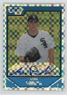 2007 Bowman Draft Picks & Prospects - Chrome Draft Picks - X-Fractor #BDPP123 - Aaron Poreda /225