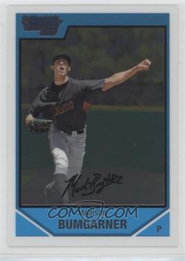 2007 Bowman Draft Picks & Prospects - Chrome Draft Picks #BDPP61 - Madison Bumgarner