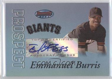 2007 Bowman's Best - Prospects - Blue #BBP57 - Emmanuel Burriss /99