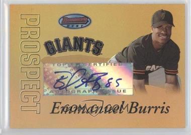 2007 Bowman's Best - Prospects - Gold #BBP57 - Emmanuel Burriss /50