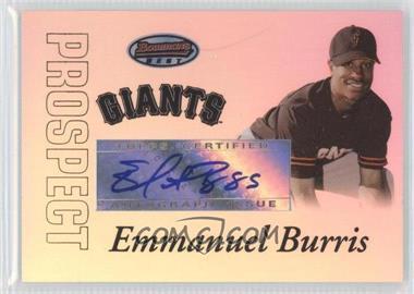 2007 Bowman's Best - Prospects #BBP57 - Autograph - Emmanuel Burriss