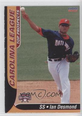 2007 Choice Carolina League Top Prospects - [Base] #08 - Ian Desmond