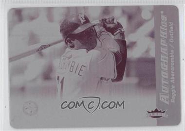 2007 Fleer - Autographics - Printing Plate Magenta Non-Autographed #RA - Reggie Abercrombie /1