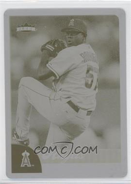 2007 Fleer - [Base] - Printing Plate Yellow #173 - Francisco Rodriguez /1