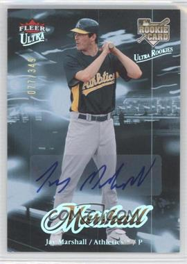 2007 Fleer Ultra - [Base] - Rookie Autographs #221 - Jay Marshall /349