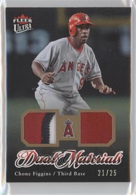 2007 Fleer Ultra - Dual Materials - Patch #DM-CF - Chone Figgins /25