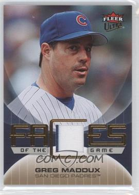 2007 Fleer Ultra - Faces of the Game - Materials #GF-GM - Greg Maddux