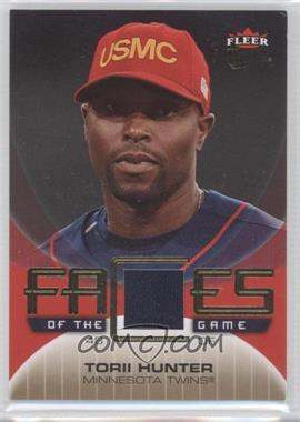 2007 Fleer Ultra - Faces of the Game - Materials #GF-TH - Torii Hunter