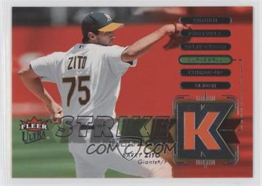 2007 Fleer Ultra - Strike Zone #SZ-BZ - Barry Zito