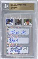 Brandon Hicks, Jason Heyward, Cole Rohrbough /25 [BGS AUTHENTIC]