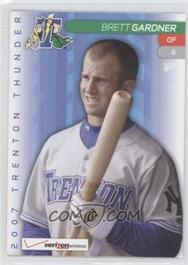 2007 Multi-Ad Sports Trenton Thunder - [Base] #6 - Brett Gardner