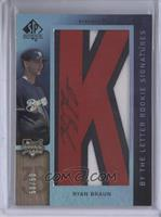 By the Letter Rookie Signatures - Ryan Braun (Letter K) #/50