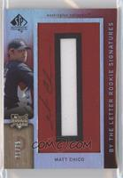 By the Letter Rookie Signatures - Matt Chico (Letter O) #/75