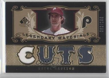 2007 SP Legendary Cuts - Legendary Materials #LM-SC1 - Steve Carlton /199