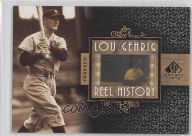 2007 SP Legendary Cuts - Reel History Film Frame #RHFF-LG - Lou Gehrig /1