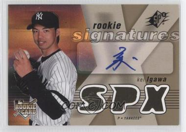 2007 SPx - [Base] #127 - Rookie Signatures - Kei Igawa