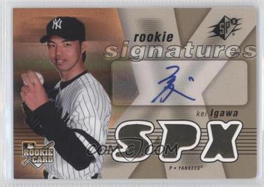 2007 SPx - [Base] #127 - Rookie Signatures - Kei Igawa