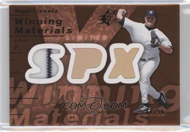 2007 SPx - Winning Materials - Limited Bronze Patches #WM-CL - Roger Clemens /50