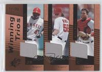 Jered Weaver, Mike Napoli, Howie Kendrick /30