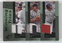 Randy Johnson, Bobby Abreu, Derek Jeter #/25