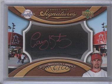 2007 Sweet Spot - Signatures Bat Barrel - Black Red Ink #SS-CK - Casey Kotchman /5