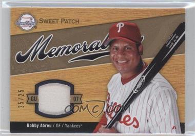 2007 Sweet Spot - Sweet Swatch Memorabilia - Patch #SW-BA - Bobby Abreu /25