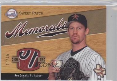 2007 Sweet Spot - Sweet Swatch Memorabilia - Patch #SW-OS - Roy Oswalt /25