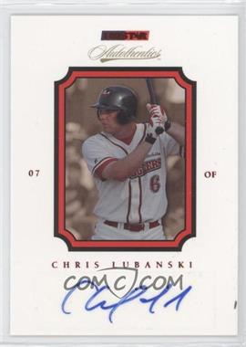 2007 TRISTAR Autothentics - [Base] - Red Autographs [Autographed] #19 - Chris Lubanski /50