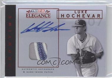 2007 TRISTAR Elegance - Showtime - Game-Worn Red Patch Autographs [Autographed] #ST-LH - Luke Hochevar /25
