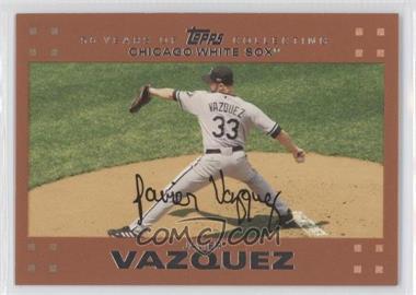 2007 Topps - [Base] - Copper #147 - Javier Vazquez /56