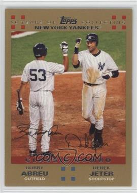 2007 Topps - [Base] - Gold #327 - Bobby Abreu, Derek Jeter /2007