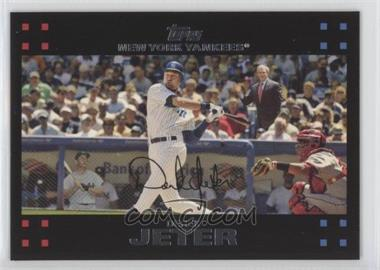2007 Topps - [Base] #40.2 - Derek Jeter (Mickey Mantle and President George W. Bush in background)